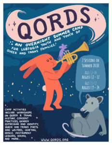 QORDS 2018 Camp Flyer August 12 – 17 for youth 12 – 14 | August 19 – 24 for youth 15 – 17